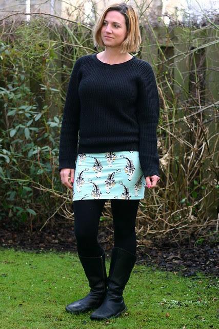 blue tiger skirt full