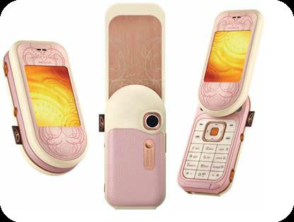 Nokia 7373 pink phone