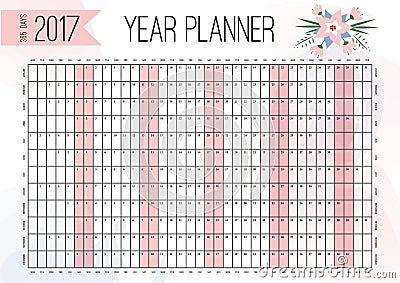 2017 Calendar Year Planner – 2017 Calendar