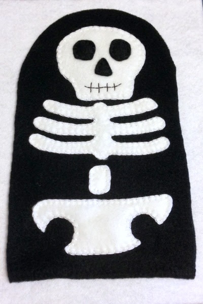 Skeleton Blankie Buddy - Full Body - Felt With Love Designs
