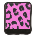 Pink and Black Leopard Pattern Luggage Handle Wrap