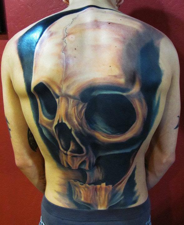 Full Back Skull Tattoo Tattoo Bytes