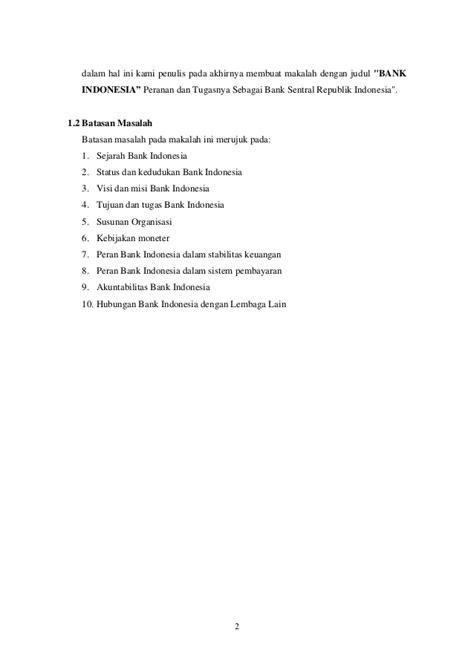 makalah bank indonesia