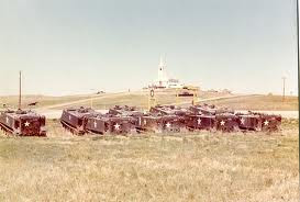 US army APCs at Wounded Knee.