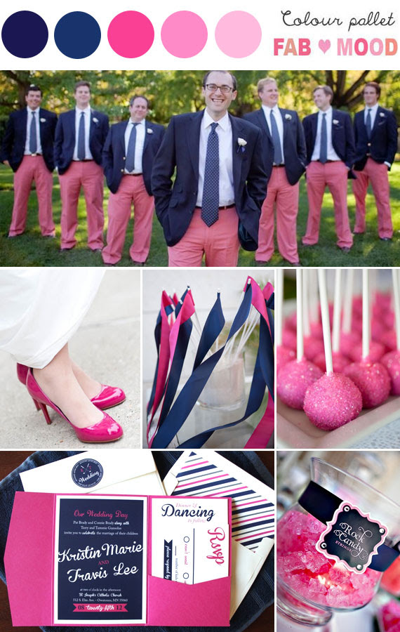 Navy Blue And Pink Weddingnavy And Pink Summer Wedding