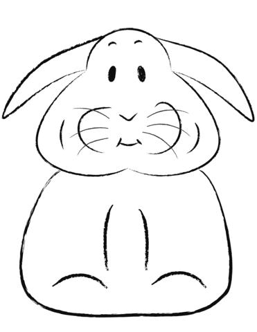 Disegno Di Coniglietto Pasquale Da Colorare Disegni Da Colorare E