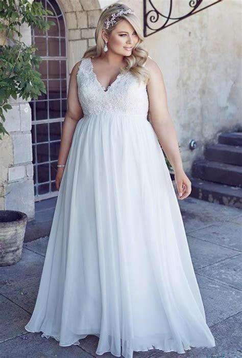 Stunnng Plus Size Beach Wedding Dresses 2016 Chiffon
