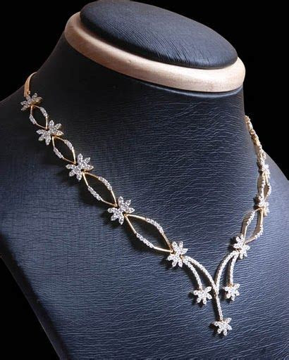 Simple Diamond Necklace Designs   Indian Simple and
