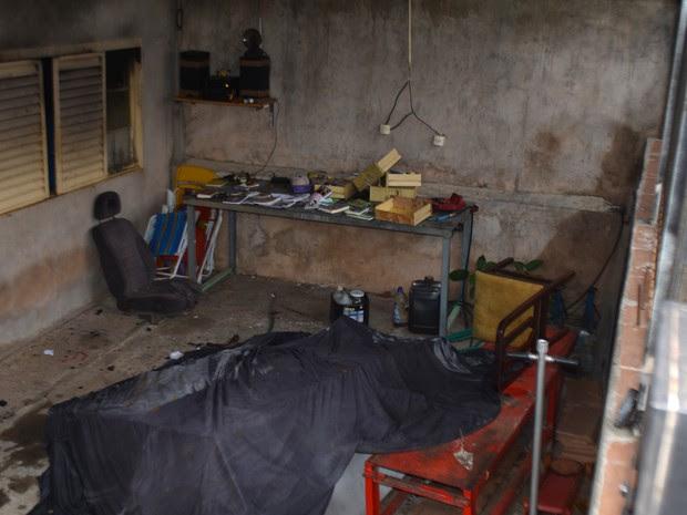 Casa incendiada de mulher após negar sexo com ex-marido, em Campinas (Foto: Priscilla Geremias/G1 )