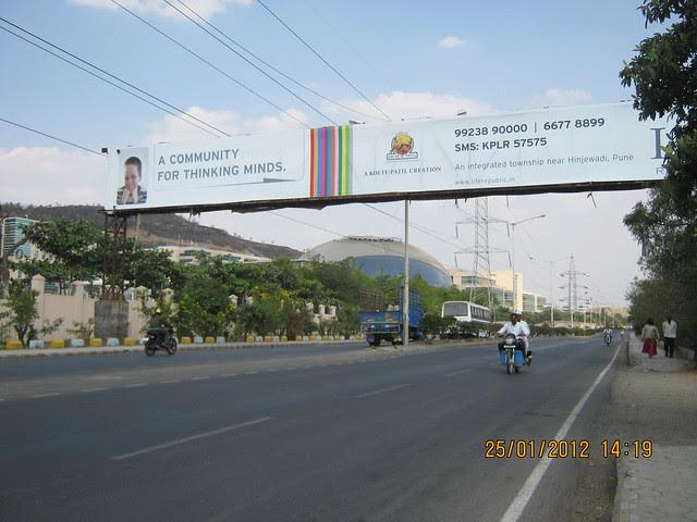 Hoarding of Life Republic on the road to Hinjewadi Phase 3