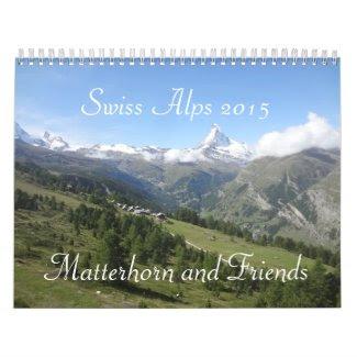 """""""Matterhorn and Friends"""" Swiss Alps 2015 Calendar"""