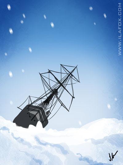 30 Day Drawing Challenge, fav book, Desafio dos 30 dias de desenho, livro favorito, Incrível Viagem de Shackleton, by ila fox