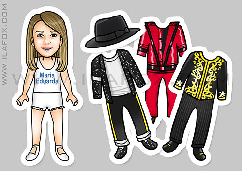 lembrancinhas de roupinhas, lembrancinhas magnéticas, lembrancinhas personalizadas, lembrancinhas originais, lembrancinhas divertidas, lembrancinha Michael Jackson, lembrancinhas troca de roupinha, by ila fox