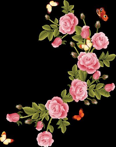 pour vos cruas coins flowers borders png 13