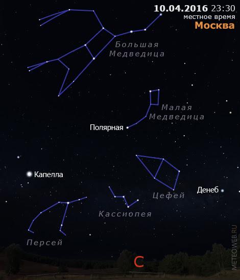 Вечернее небо Москвы 10 апреля 2016 г.
