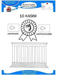 Atatürk Boyama Sayfası 18 40dk Eğitim Bilim Kültür Sanat