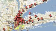 Crisis map: Hurricane Sandy