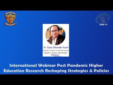 Dr. Syed Sikander Azam Director, Centre for Bioinformatics Quaid-i- Azam...