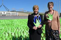 Christine Milne & Penny Wright give a Gonski