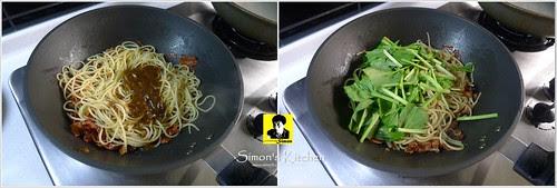 培根炒黑胡椒醬波菜義大利麵06-1