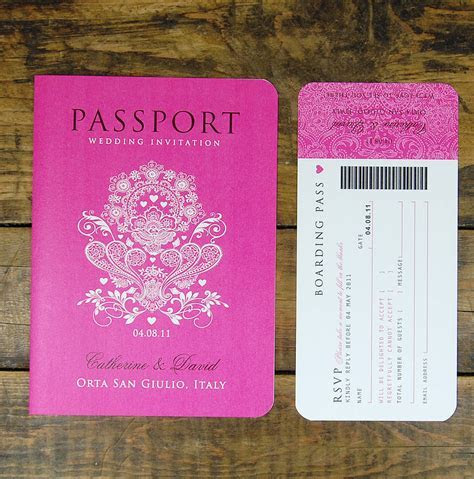 passport to love booklet travel wedding invitation by