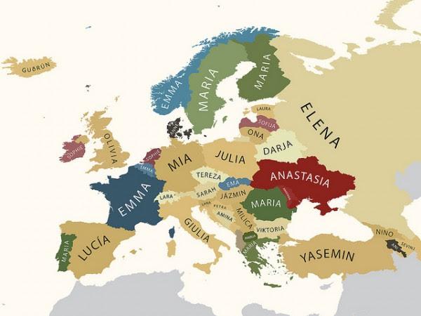 Perierga.gr - Τα πιο συνηθισμένα ονόματα και επίθετα στην Ευρώπη