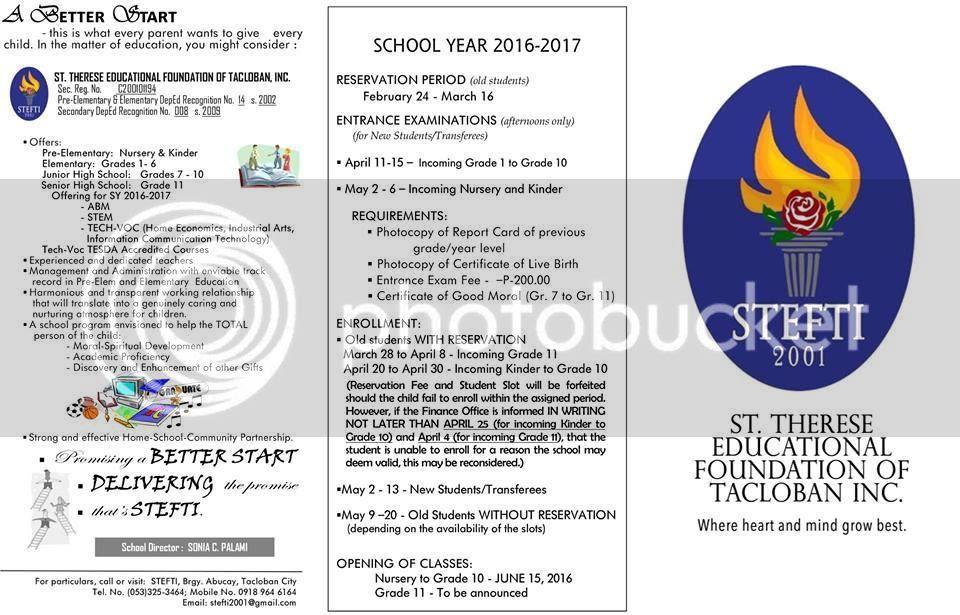 Tacloban Summer Class 2016
