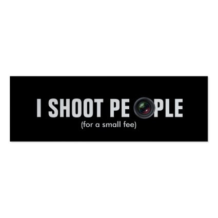 I shoot people - Metallic Paper (photography) Business Cards