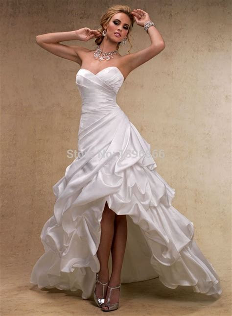 Country wedding dress short in front long in back