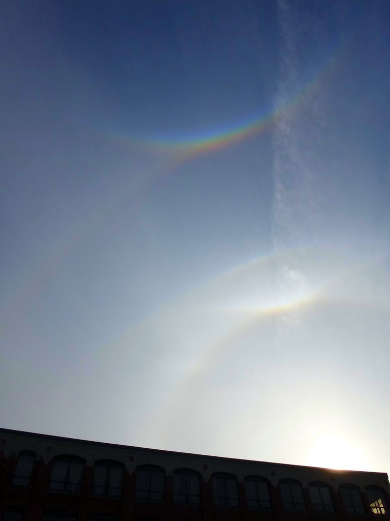 Salem MA October 27 2012 quadruple rainbows in the sky