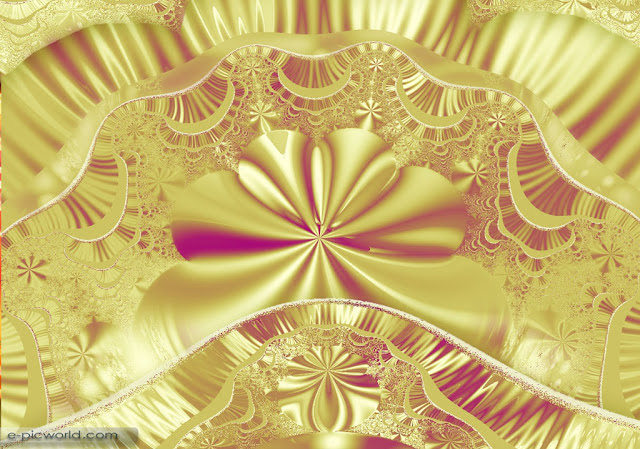 fractals abstracts wallpaper - gold laces