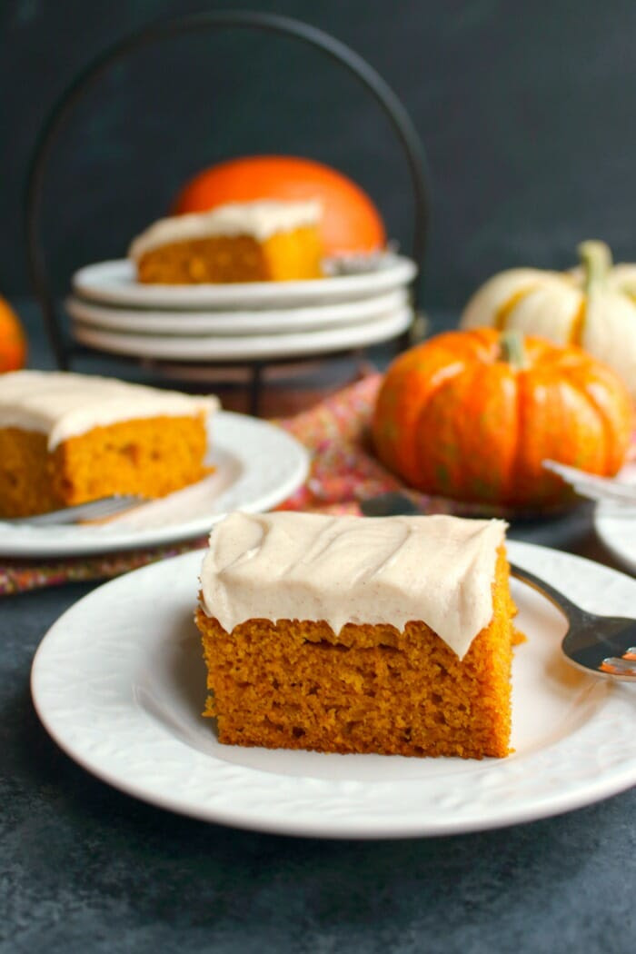 Pumpkin Bars with Cinnamon Cream Cheese Frosting