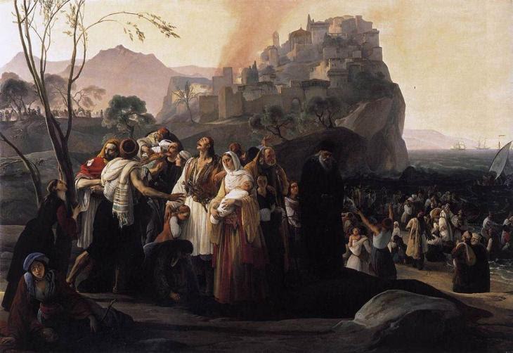 Οι πρόσφυγες της Πάργας -Francesco Paolo Hayez - 1831
