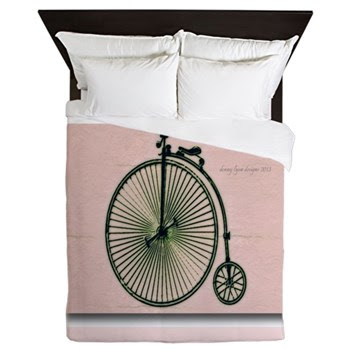 Vintage Bicycle Queen Duvet