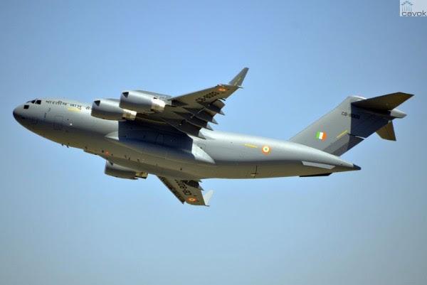 El tercero C-17 Globemaster III de la Fuerza Aérea de la India. (Foto: Boeing)