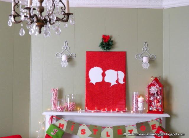 Christmas Craft Ideas: Kissing Under The Mistletoe Silhouette Wall Art