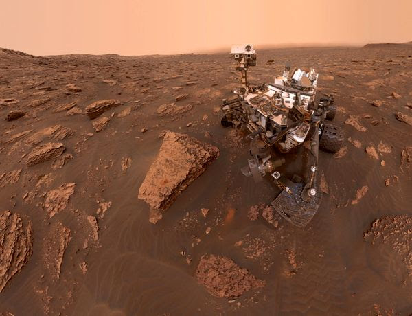 A self-portrait of NASA's Curiosity Mars rover (which landed on the Red Planet on August 5, 2012), taken with a camera on her robotic arm on June 15, 2018.