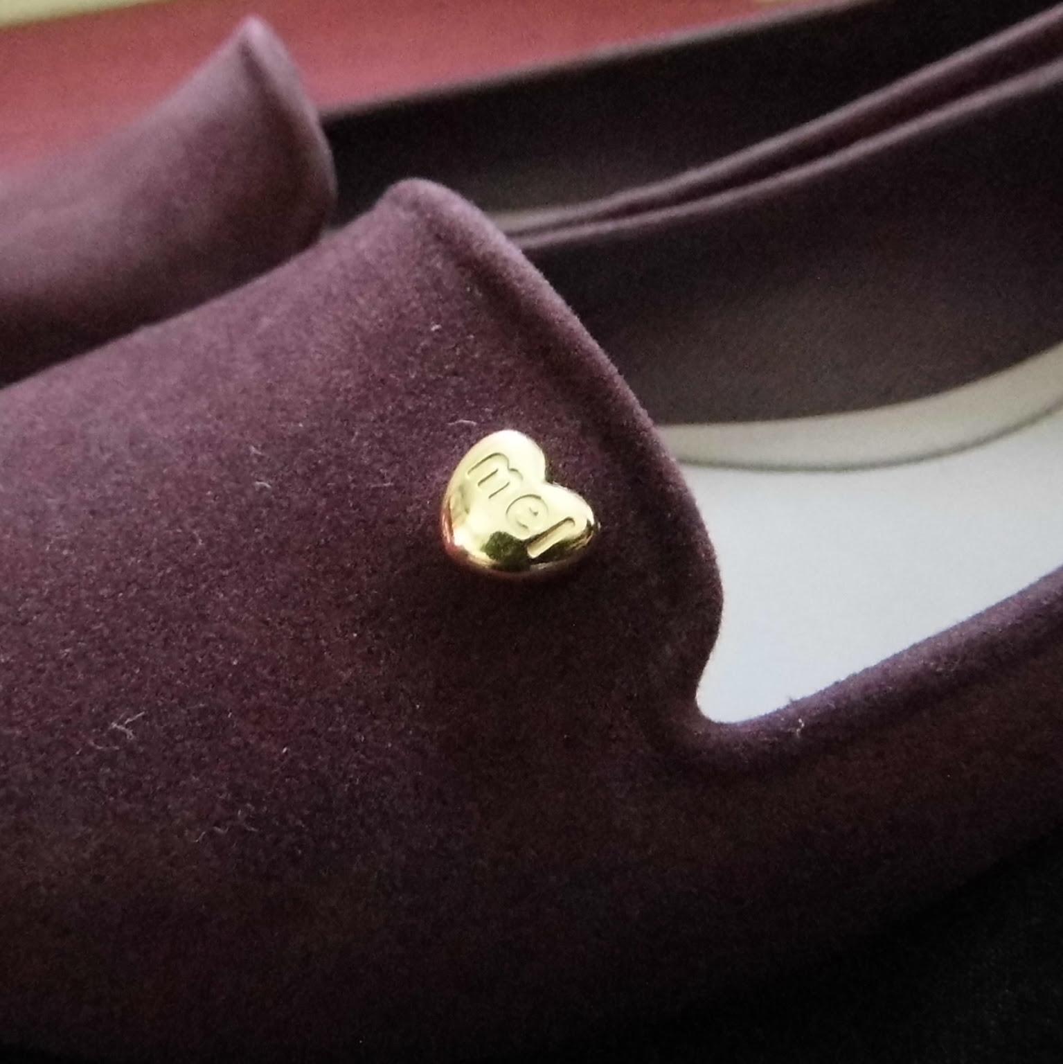 Mel Burgundy Slipper Shoe
