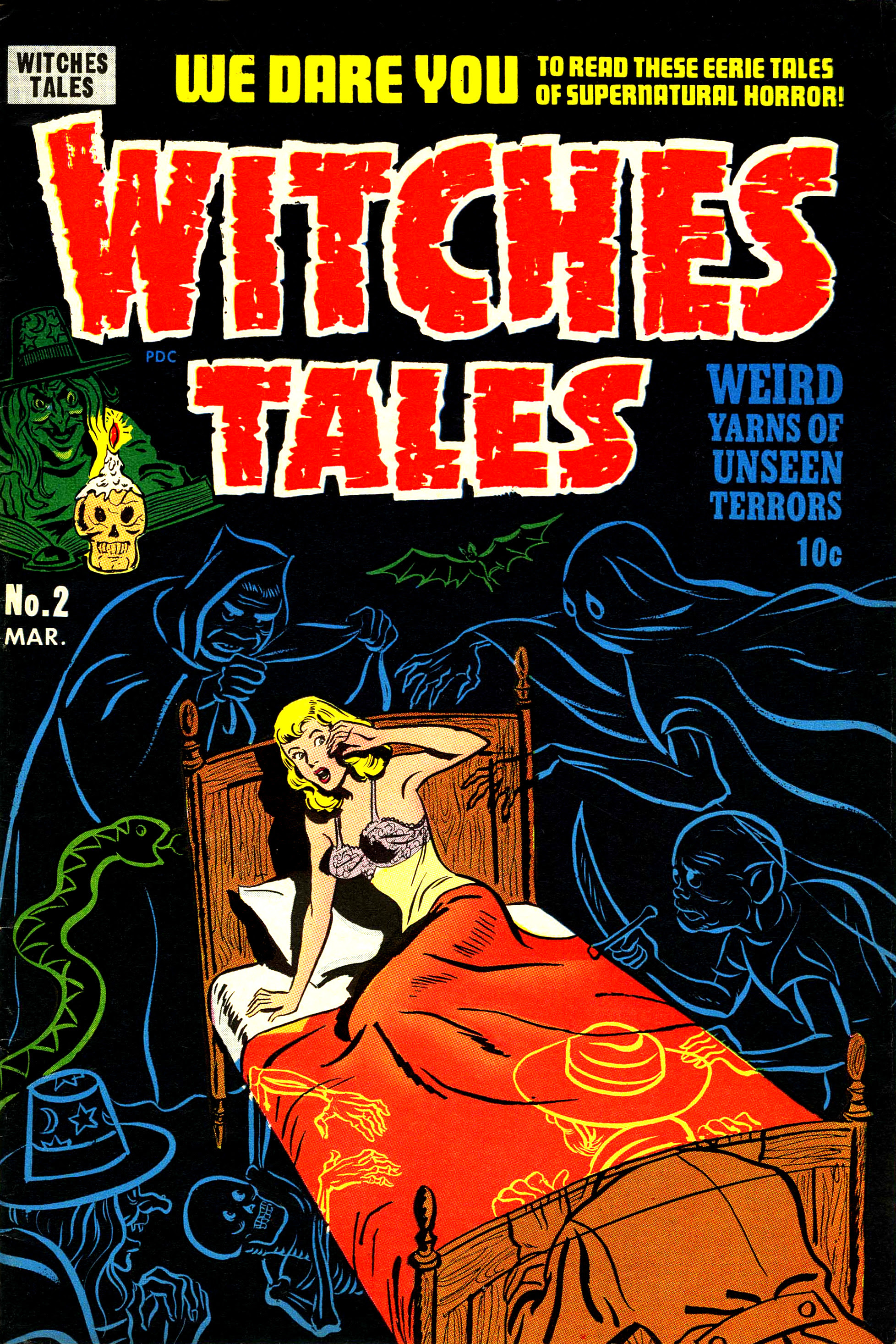 Witches Tales #2, Al Avison Cover (Harvey, 1951)