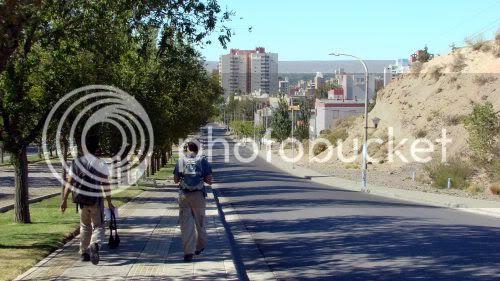 Main avenue of Neuquén, facing the downtown