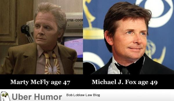 Marty Mcfly Age 47 Vs Michael J Fox Age 49 Funny Pictures