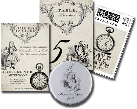 Wedding Cards and Gifts: Alice in Wonderland Wedding