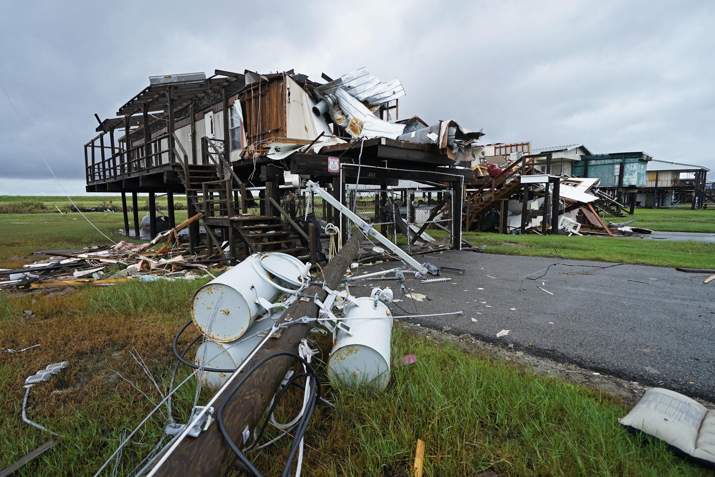 Tropical Depression Nicholas stalls over storm-battered Louisiana