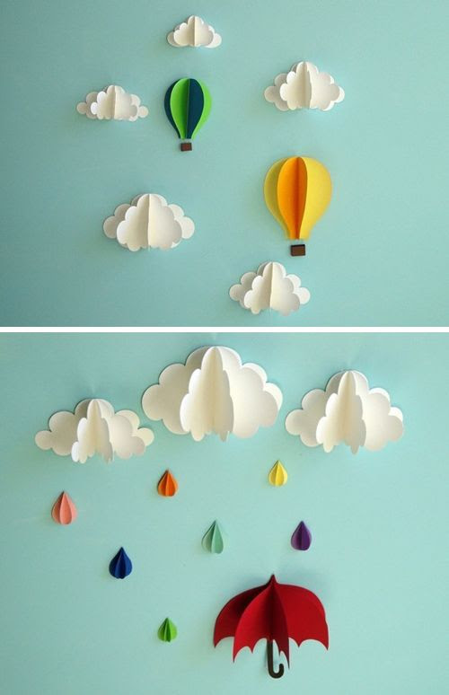 21 Extraordinary Smart DIY Paper Wall Decor That Will Color Your Life homesthetics design 21 20 Extraordinary Smart DIY Paper Wall Decor [Free Template Included]