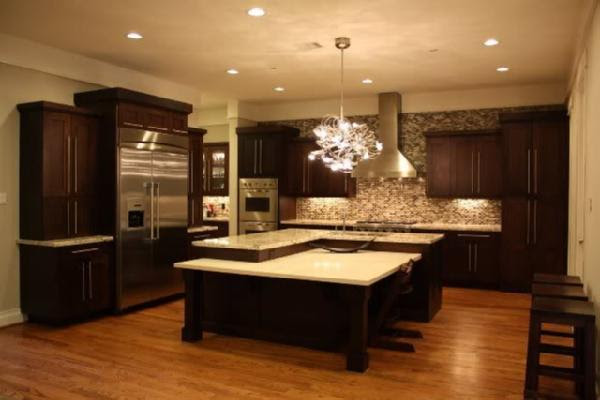 Chocolate Brown Cabinets - Transitional - kitchen