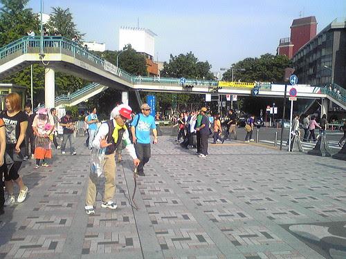 Dude dressed up as an old guy near Meiji Jingu mae.