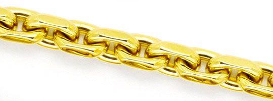Foto 2, Anker Kette Goldkette Gelbgold 14K/585 massiv Karabiner, K2246