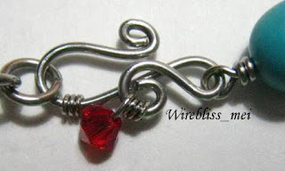 Wire wrapped clasp