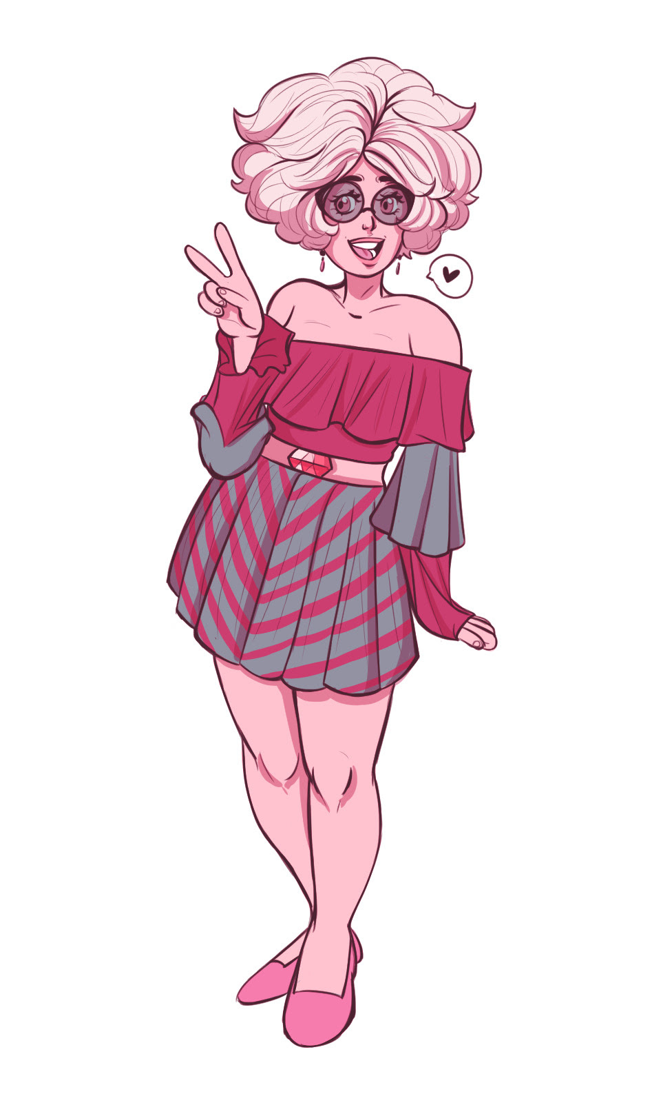 Pink Diamond Squad in cute striped dresses / skirts. Sorry I haven't been posting, i've been working on cosplay a lot… Edit: MY COMMISSIONS ARE OPEN. Message me for details / if ya interested. Ya cute...
