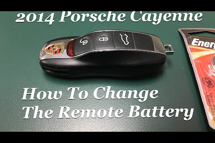 Porsche Macan Key Battery Change